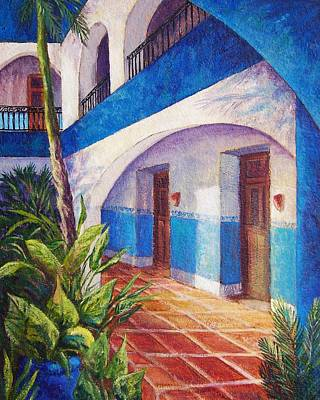 Merida Painting - Patio In Merida by Candy Mayer