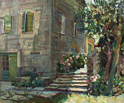 Painting - Patio by Juliya Zhukova