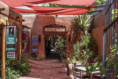 Photograph - Patio Market by Allen Sheffield