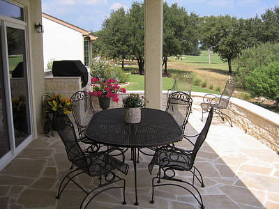 Photograph - Patio - North View by John Johnson
