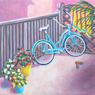 Painting - Patio Parking by Pamela Poole
