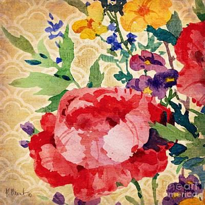 Peony Painting - Patio Peony Iv by Paul Brent