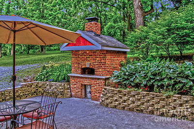 Photograph - Patio Pizza Oven by William Norton