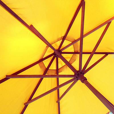 Patio Umbrellas Digital Art - Patio Umbrella by Brian Goodwin