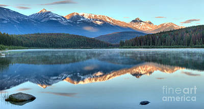 Photograph - Patiricia Lake Sunrise Reflections by Adam Jewell