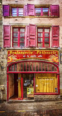 Village In France Photograph - Patisserie by Debra and Dave Vanderlaan