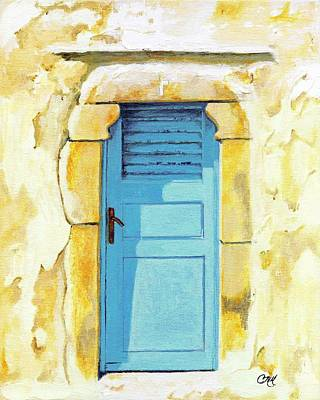 Patmos Door Art Print