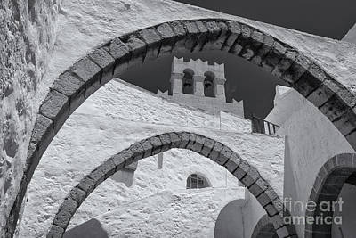 Photograph - Patmos Monastery Arches by Inge Johnsson