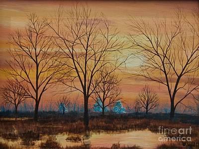 Patomac River Sunset Art Print by AnnaJo Vahle