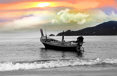 Patong Beach Art Print by Mark Ashkenazi