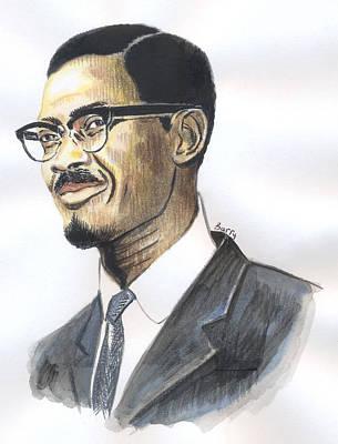 Painting - Patrice Emery Lumumba by Emmanuel Baliyanga
