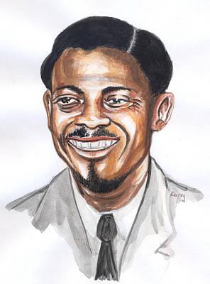 Painting - Patrice Lumumba 03 by Emmanuel Baliyanga