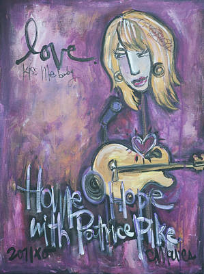 Painting - Patrice Pike Live by Laurie Maves ART