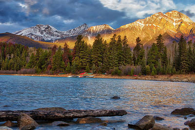 Photograph - Patricia Lake At Sunrise by Darcy Michaelchuk
