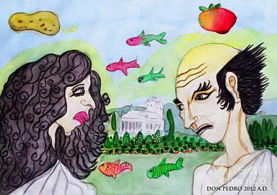 Patricio Meets Phillosophy Art Print by Don Pedro De Gracia
