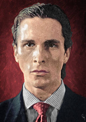 Novel Painting - Patrick Bateman - American Psycho by Taylan Apukovska