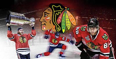 Montreal Canadiens Digital Art - Patrick Kane Artwork by Nicholas Legault