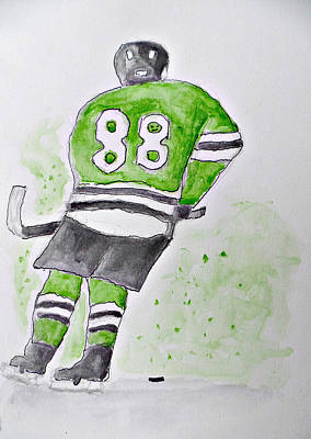 Stanley Cup Drawing - Patrick Kane-chicago Blackhawks by Terry Florczak