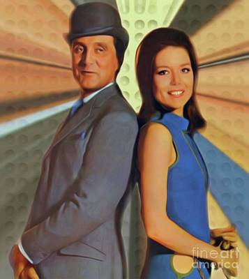 Musicians Royalty Free Images - Patrick MacNee and Diana Rigg, The Avengers Royalty-Free Image by Mary Bassett