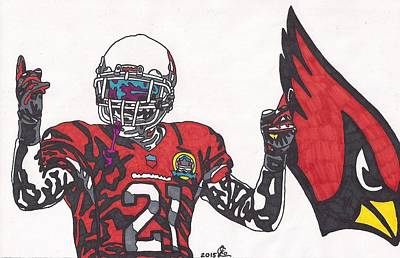 Drawing - Patrick Peterson  by Jeremiah Colley