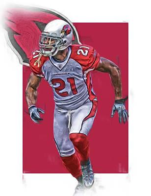 Patrick Peterson Arizona Cardinals Oil Art Art Print by Joe Hamilton
