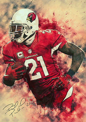 University Of Arizona Digital Art - Patrick Peterson by Taylan Apukovska