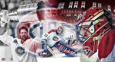 Canadiens Digital Art - Patrick Roy Montreal Canadiens by Nicholas Legault