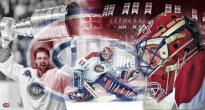 Montreal Canadiens Digital Art - Patrick Roy Montreal Canadiens by Nicholas Legault