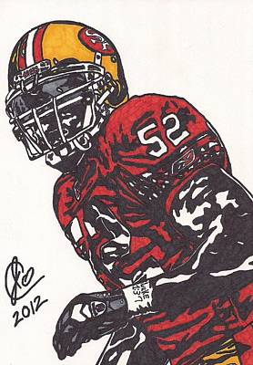 Patrick Willis Art Print by Jeremiah Colley