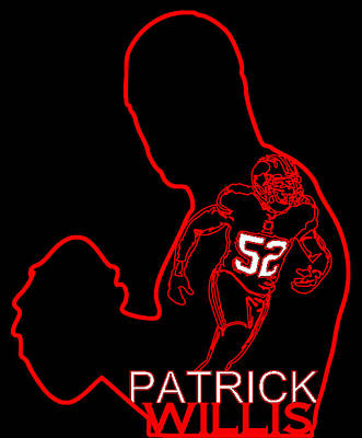 Patrick Willis Art Print by Michael Bergman