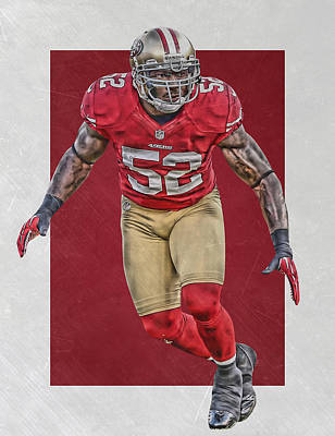 Patrick Willis San Francisco 49ers Art Art Print by Joe Hamilton