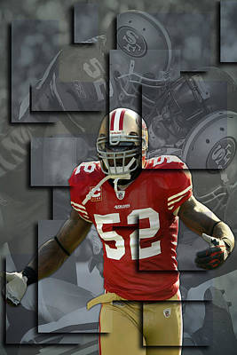 Patrick Willis San Francisco 49ers Blocks Art Print by Joe Hamilton