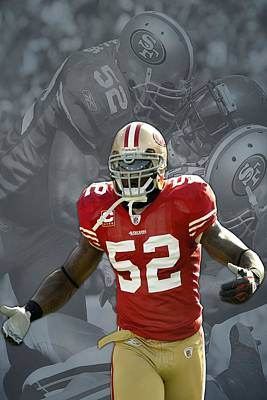 Patrick Willis San Francisco 49ers Art Print by Joe Hamilton