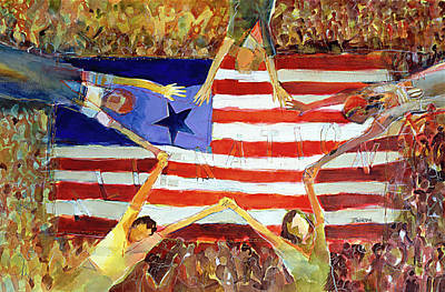 Multicultural Painting - Patriot Act by Jen Norton