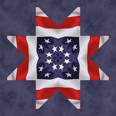 Digital Art - Patriotic Star 2 by Jeff Kolker
