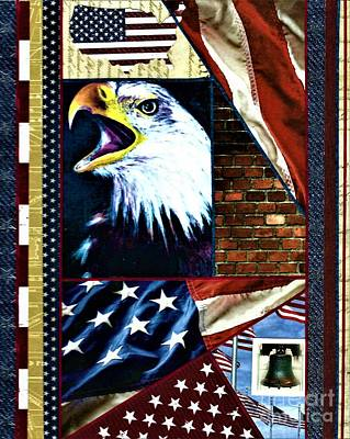 Painting - Patriotic  by Allison Constantino