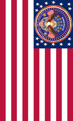 Election Day Digital Art - Patriotic America Print And Case Only by Bill Campitelle