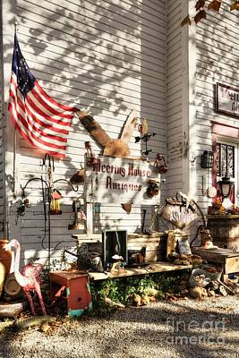 Patriotic Antiques In Metamora Art Print by Mel Steinhauer