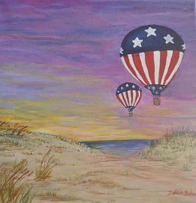Painting - Patriotic Balloons by Debbie Baker