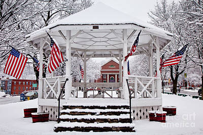 Patriotic Bandstand Art Print by Susan Cole Kelly