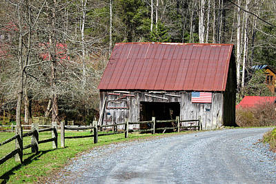 Photograph - Patriotic Barn by Doug Camara
