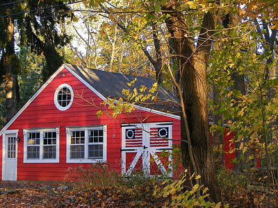 Patriotic Barn Art Print by Margie Avellino