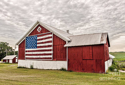 Patriotic Barn Art Print