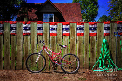 Photograph - Patriotic Bicycle by Craig J Satterlee