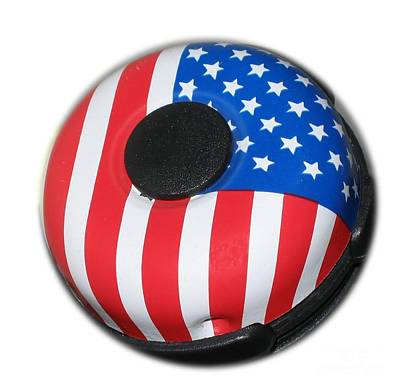 Photograph - Patriotic Bike Bell by Yali Shi