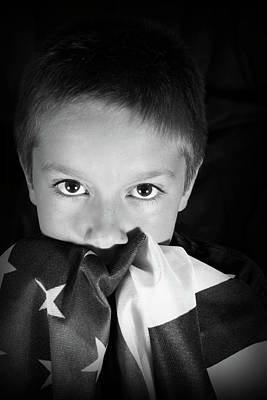 Patriotic Boy Art Print
