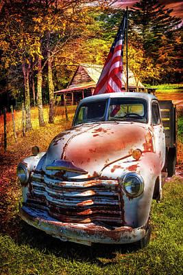 Photograph - Patriotic Chevy Truck by Debra and Dave Vanderlaan