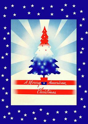 Digital Art - Patriotic Christmas by Denise Beverly