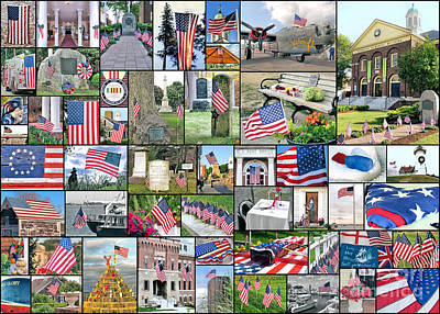 Photograph - Patriotic Collage  by Janice Drew