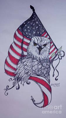 Patriotic Eagle Original by Cheryl Seagraves